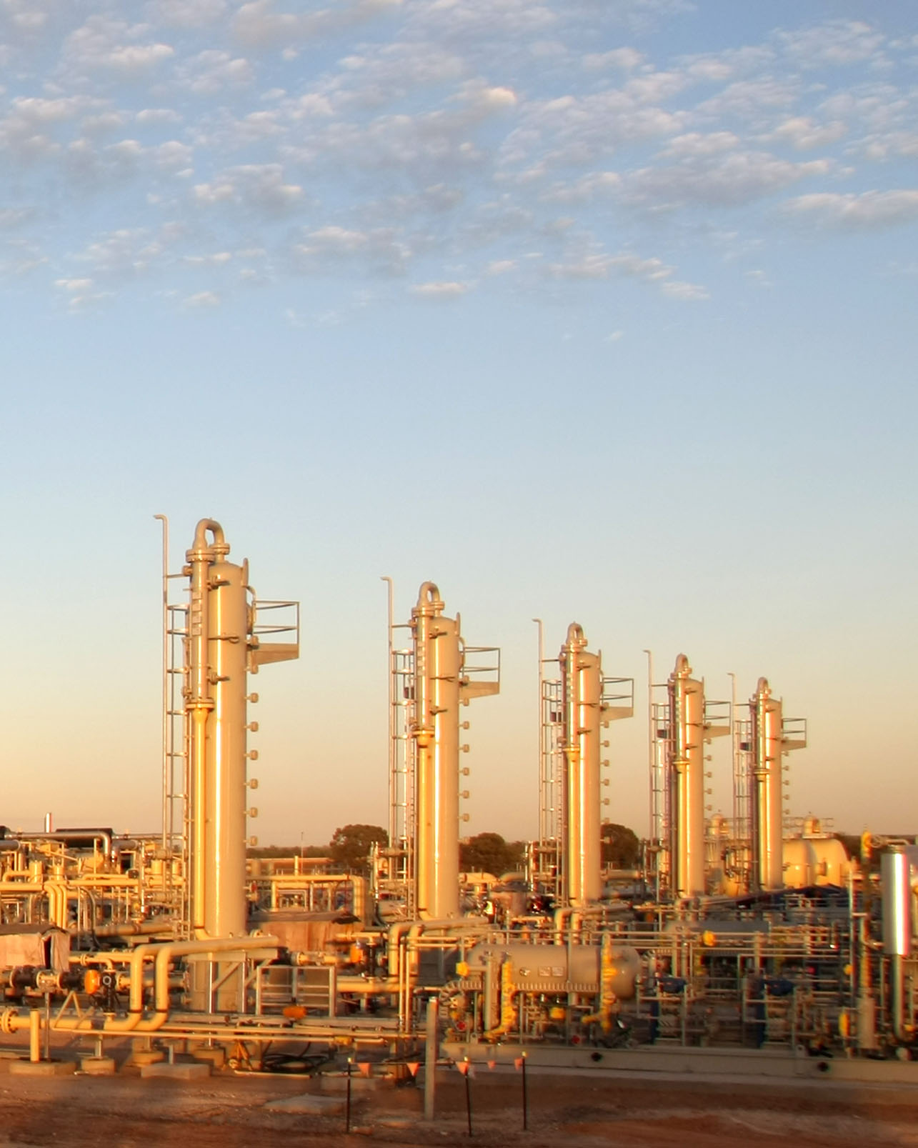 natural gas plant. oil and gas